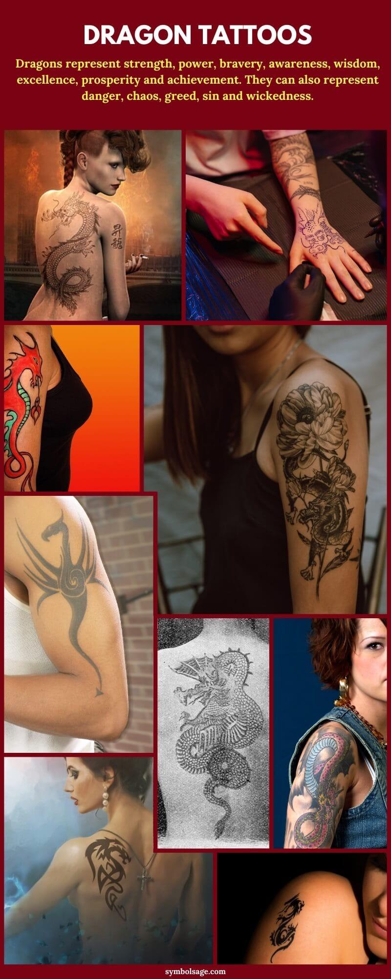dragon tattoo on girls