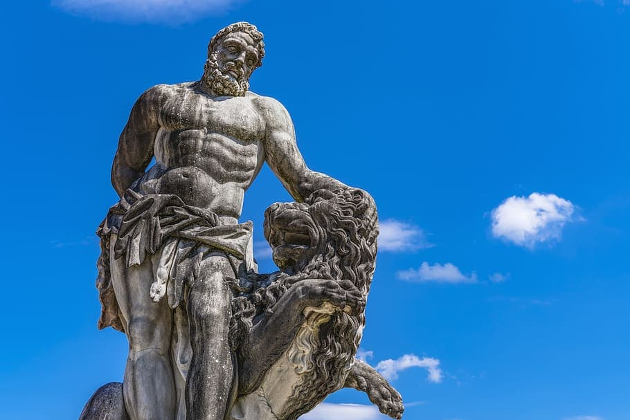 Heracles and lion