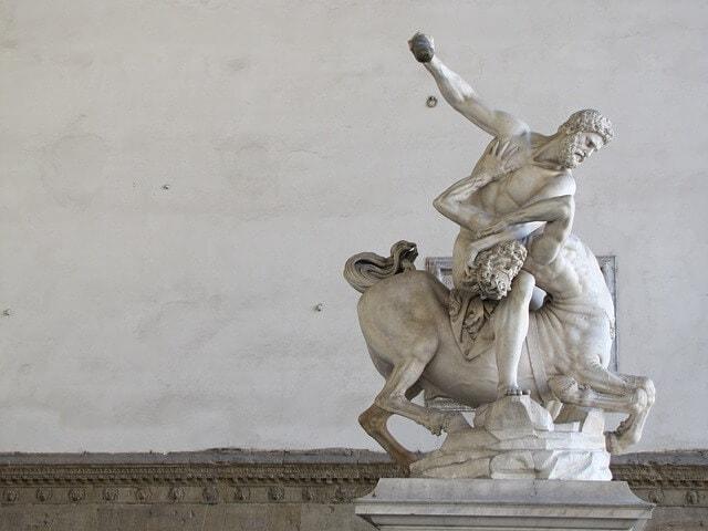 Hercules defeats the centaur