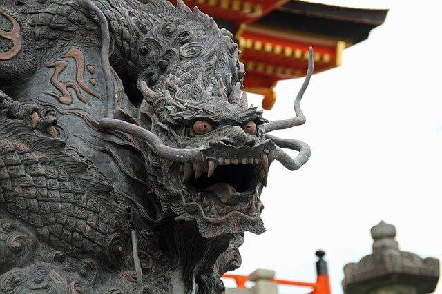 Japanese dragon temple