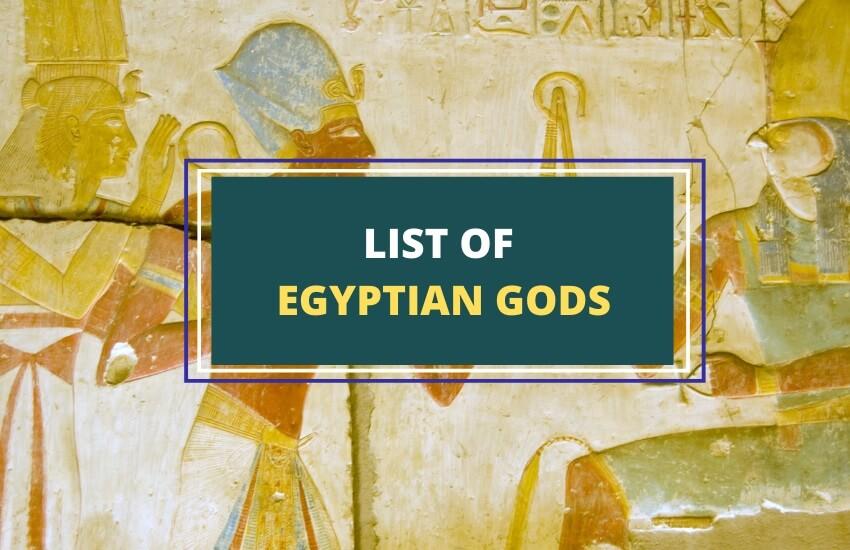 List of ancient Egyptian gods