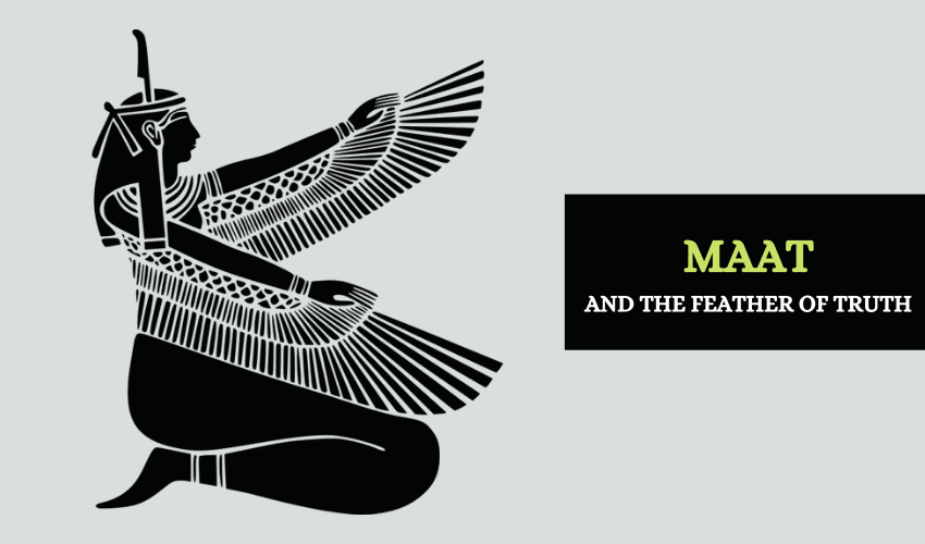Maat and feather of truth