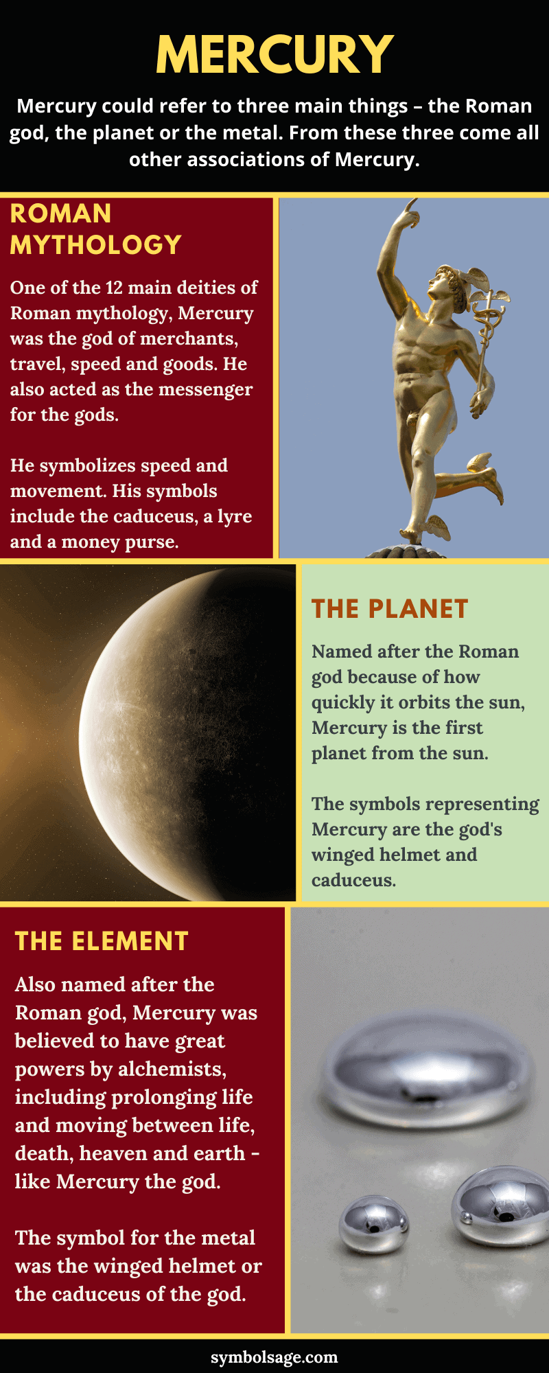 Mercury symbolism and meaning