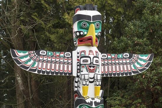 Native american thunderbird both wings open