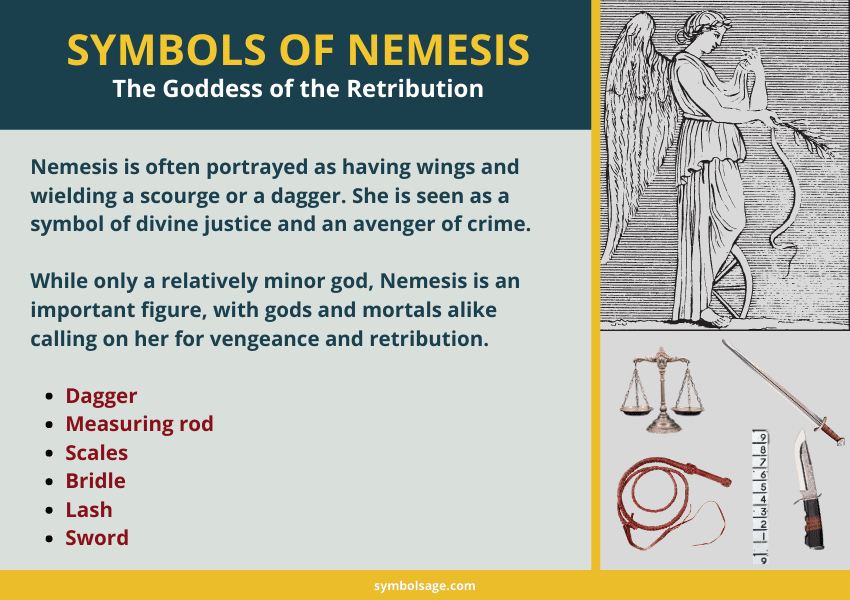 Nemesis goddess symbols