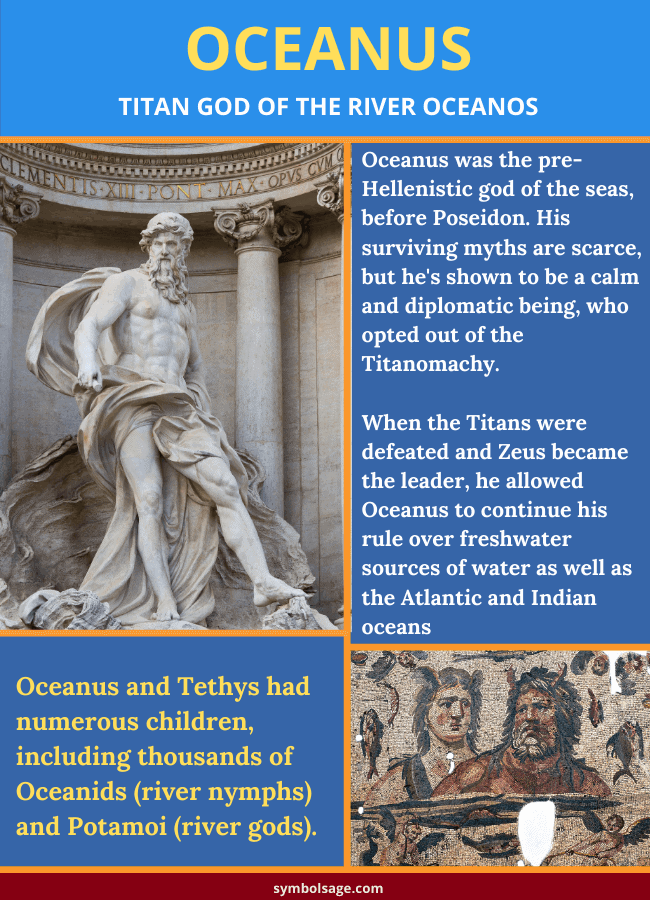 Oceanus god of the river Greek myth