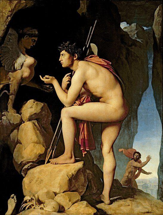 Oedipus sphinx talking