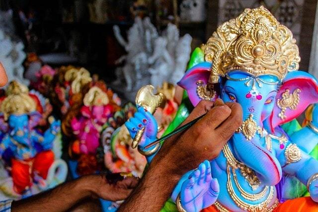 Painting lord Ganesh