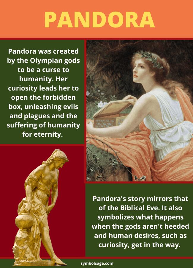 Pandora in Greek mythology story