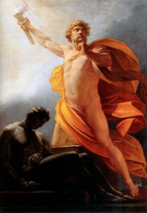 Prometheus brings fire