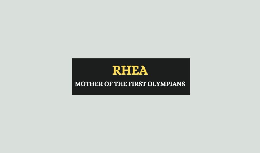 Rhea Greek Mythology