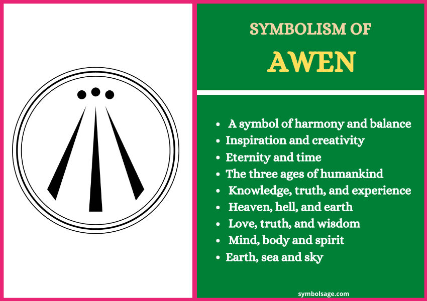 Awen symbol meaning for tattoo