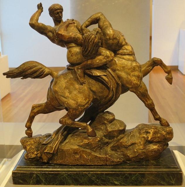 Theseus kills centaur