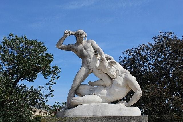 Theseus kills minotaur
