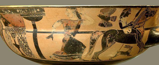 Troilus flees Achilles