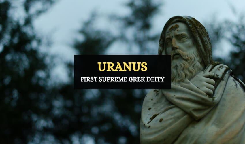Uranus Greek god of the sky