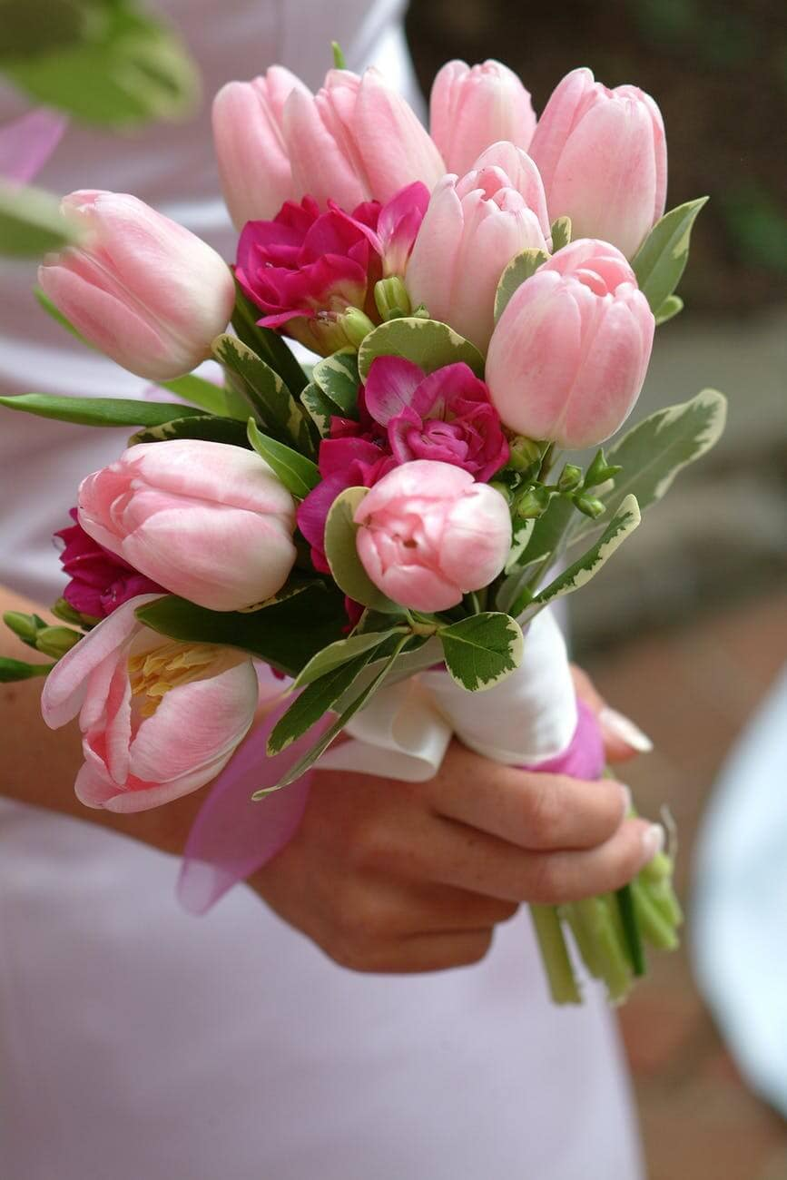 Wedding bouquet tulips