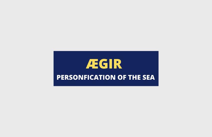 Aegir Norse god of the sea