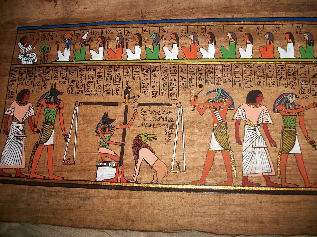 Anubis judges the dead
