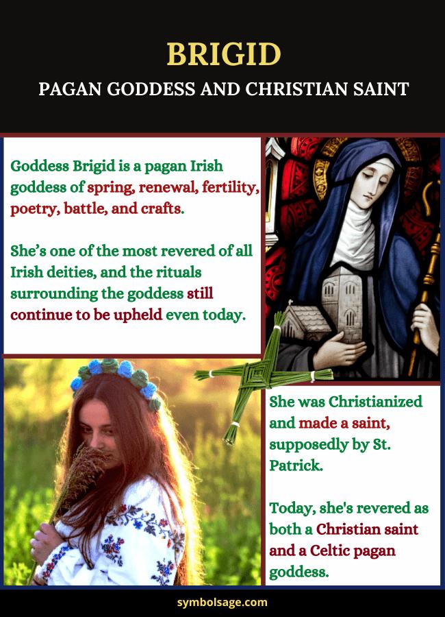 Brigid Celtic goddess Christian saint