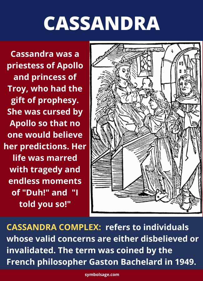 Cassandra symbolism and importance in Greek mythology