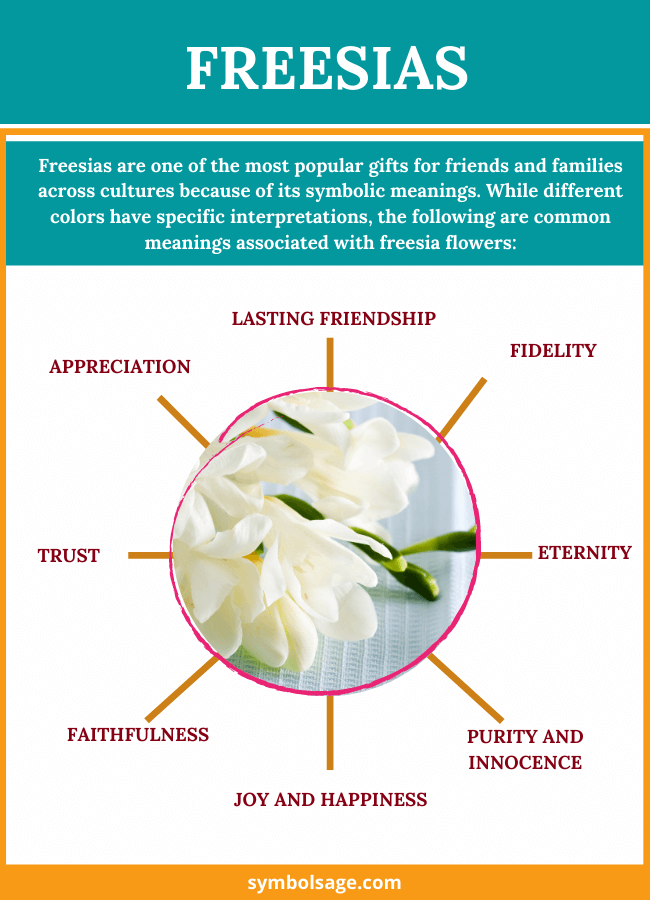 freesia flower meaning