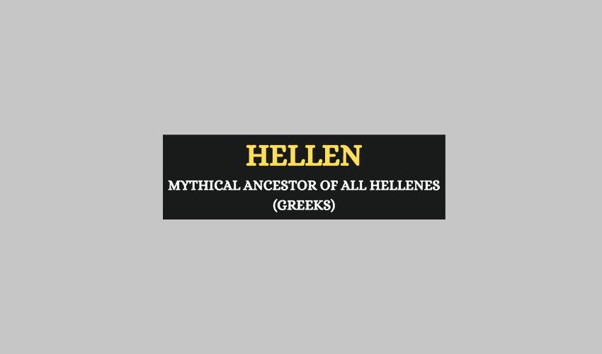 Hellen Greek mythology