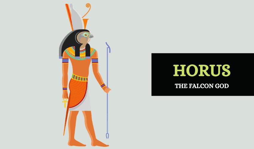 Horus the falcon god Egypt