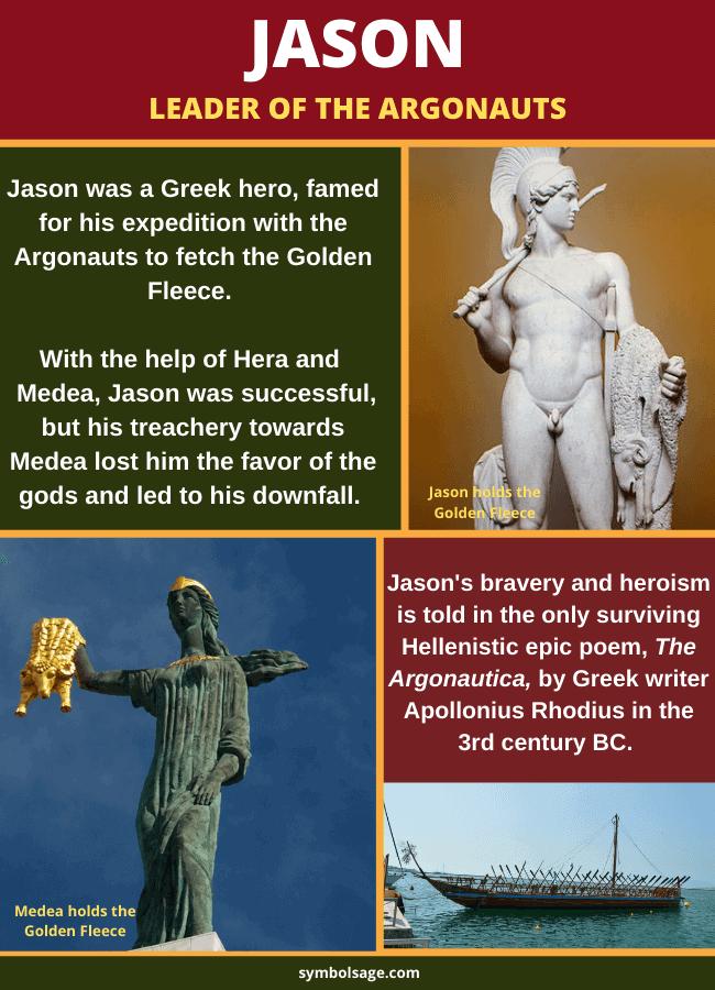 Jason leader of Argonauts Greek myth
