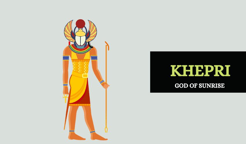 Khepri Egyptian god of sunrise