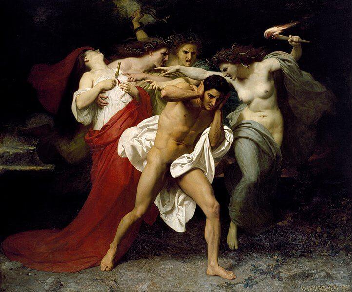 Orestes pursued by clytemnestra