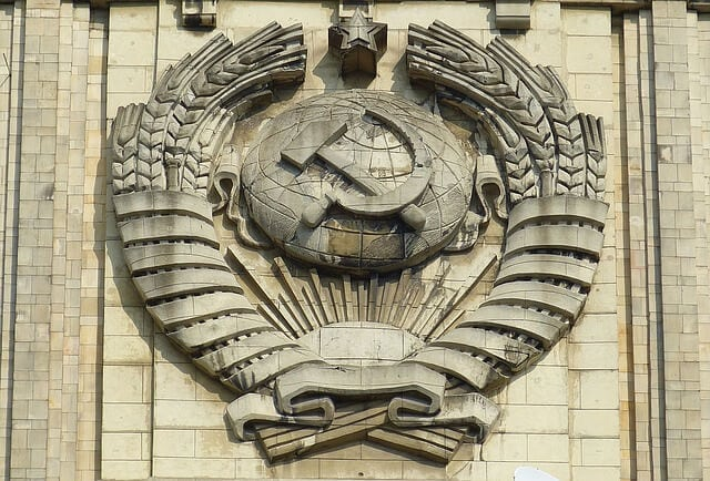 Russia hammer and sickle symbol