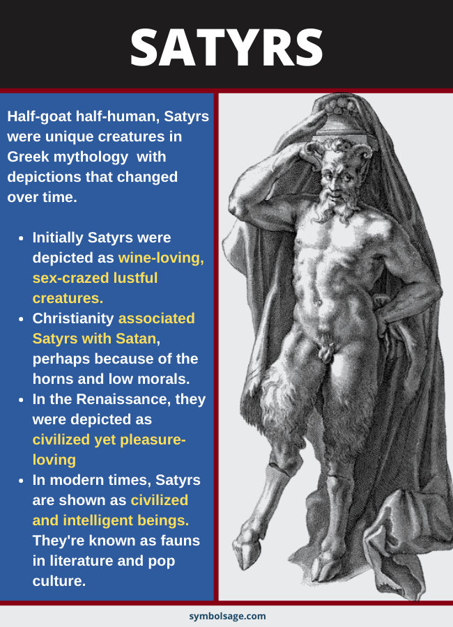 Satyrs over time