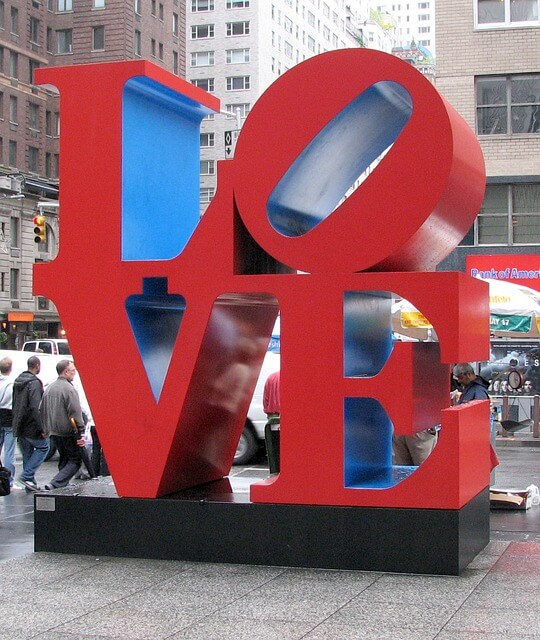 Sculpture love Indiana state