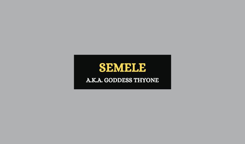 Semele Greek mythology