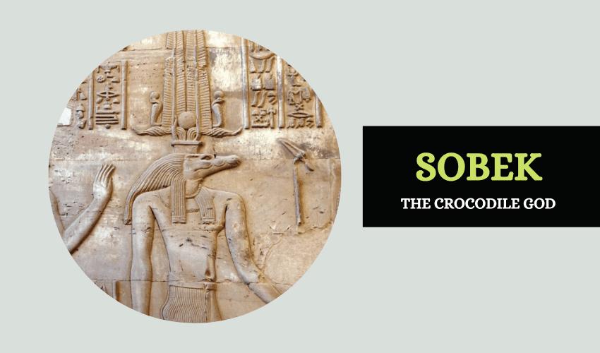 Sobek the crocodile god Egypt
