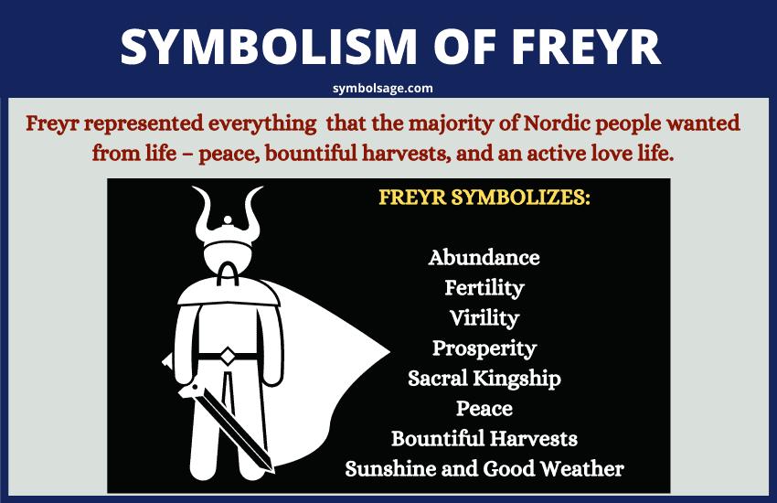 Symbolism of Freyr god