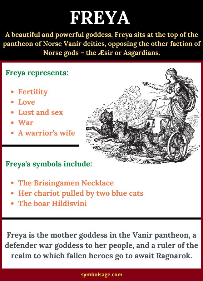 symbols of Freya goddess