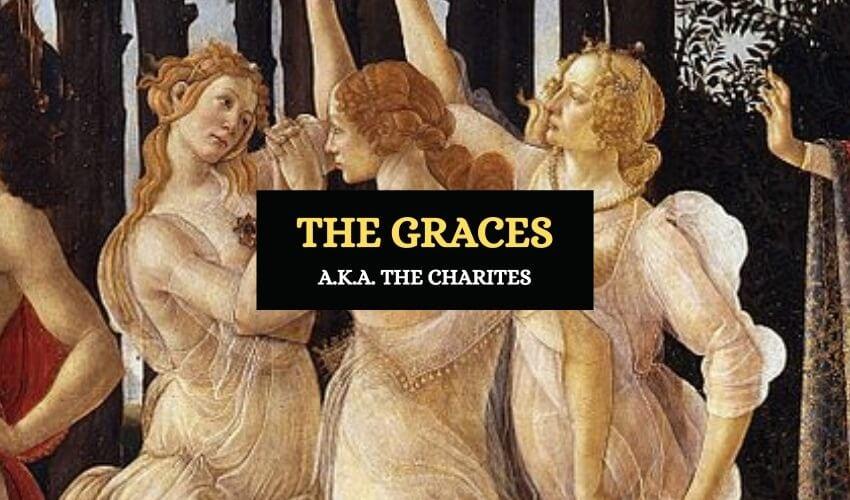 The graces Charites Greek mythology