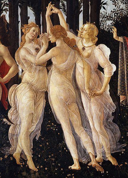 The graces Greek mythology