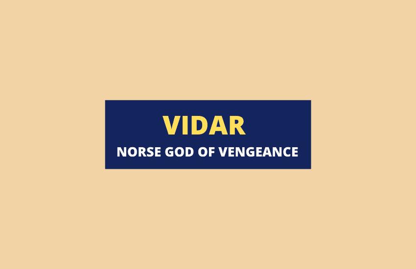 Vidar Norse god of vengeance