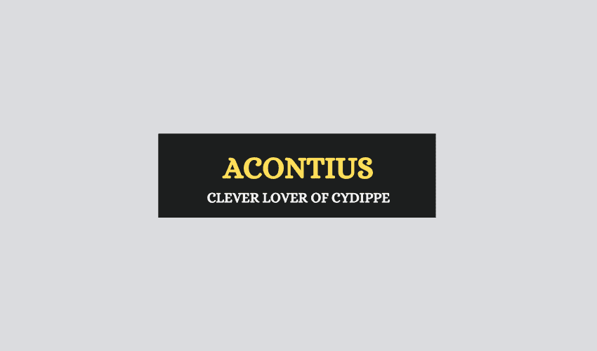 Acontius Greek myth