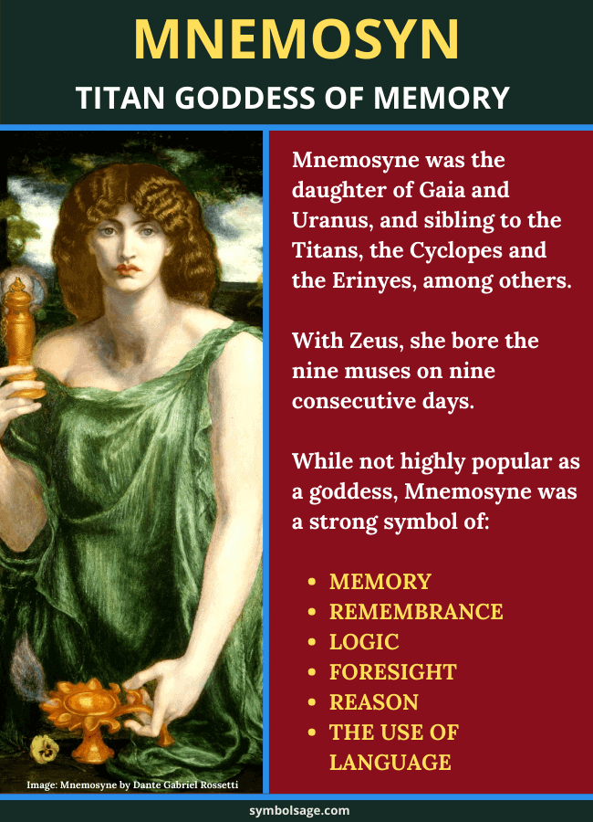 Who is mnemosyne goddess of memory