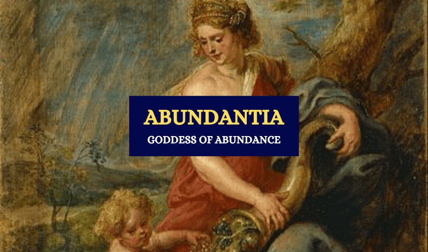 Abudantia Roman goddess of prosperity