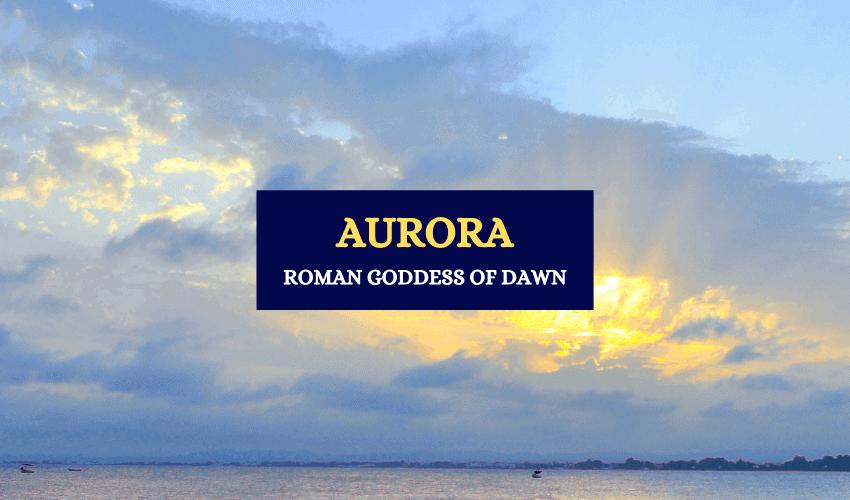 Aurora Roman goddess of dawn