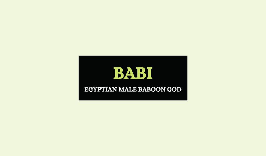 Babi Egyptian baboon god