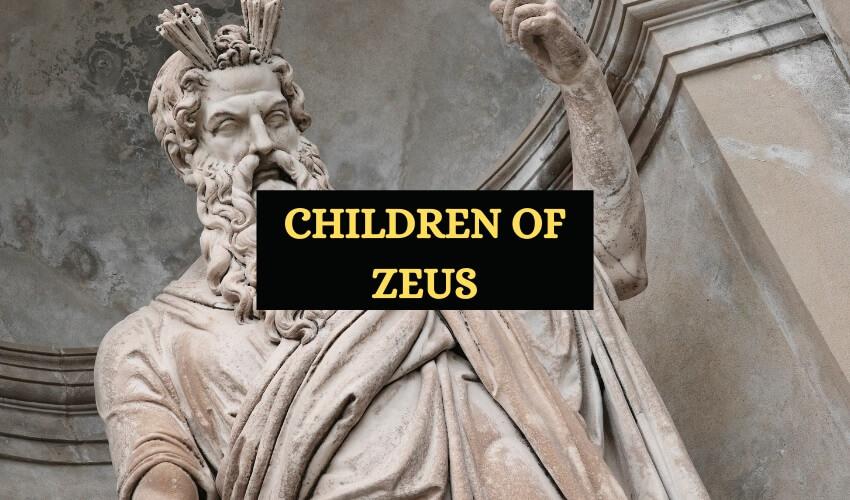 Children of Zeus god