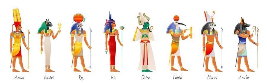 Egyptian deities was scepter