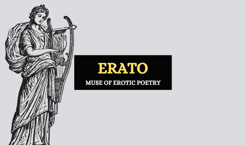Erato muse of erotic poetry Greek mythology