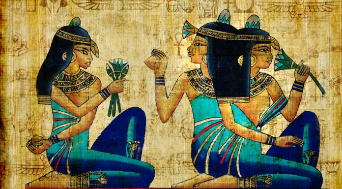Lotus and ancient Egyptians